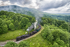 Cass Scenic Railroad (Scriptunas Images) Tags: railroad west virginia farm scenic aerial steam shay locomotive cass shalimar pocahontascounty walterscriptunasii