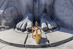 Pies de la enorme estatua de Bahubali (Gomathesvara) en el templo jainista de Shravanabelagola, cerca de Hassan (Karnataka-India), 2016. (Luis Miguel Surez del Ro) Tags: india hassan karnataka estatua jain templo bahubali shravanabelagola gomateshwara