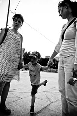 The Difference Between Children and Adults (stimpsonjake) Tags: city children mom fun freedom child candid joy streetphotography son romania adults bucharest overwhelmed 185mm nikoncoolpixa