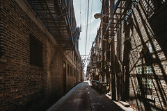 The alley (Zouhair Lhaloui) Tags: ally streetally chicago architecture city illinois clouds light shadows shades dumpster 2016 zouhairlhaloui zlphotography nikond810 street urban midwest sky car travel travelphotography alley steetalley