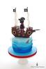 Back of Pirate Cake (Little Cottage Cupcakes) Tags: birthday blue cake canon ship pirate crocodile sail sharks pirateship fondant piratecake pirateshipcake sugarpaste skullsandcrossbones littlecottagecupcakes