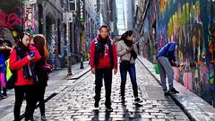 Winter Street Colours (Ross Major) Tags: street colour melbourne victoria lane streetscape hosier olympusepm2 plpo63