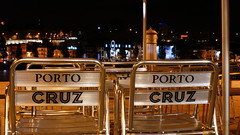(J N Photography) Tags: city nightphotography color portugal colors yellow night port jaune photography postcard terrasse porto chaise doro duero clorful portocruz illustrarportugal clolored jeremynuyten