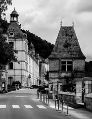 brantome abbey (PDKImages) Tags: old windows france church monochrome beauty abbey architecture ginger curves bordeaux shutters balconies stemillion brantome