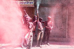Pink Boys Gang (Jakob Kolar) Tags: street travel pink india water colors festival asia colours religion celebration hindu indien colorfestival mathura holifestival uttarpradesh festivalofcolours