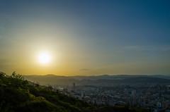 Sunset (Andgula) Tags: trees sunset sky cloud sun green yellow georgia landscape photographer outdoor hill hills tbilisi d5100