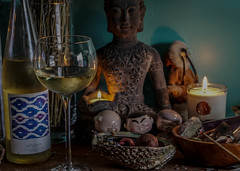 Wine night (irvingwhitney) Tags: white wine head kate buddha lavender bobble lavendar spade clubw muscot ksny