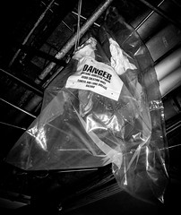 Glovebag, Just Hanging Around (Asbestorama) Tags: construction risk inspection pipe safety removal survey hazard remediation ih asbestos abatement glovebag
