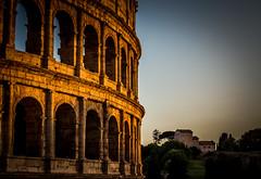 Colosseum (Matthew Johnson1) Tags: italy rome history architecture evening arches illuminated colosseum villa sunsetting illuminate