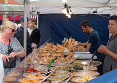Accrington Food Festival 2016 - happy stall (Tony Worrall Foto) Tags: england northern uk update place location north visit area county attraction open stream tour country welovethenorth northwest unitedkingdom foodfestival candid people eat taste stall buy sell food annual accrington lancs foodie