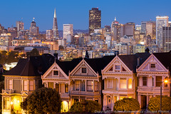 The Painted Ladies and San Francisco Skyline (3scapePhotos) Tags: sanfrancisco california park city travel ladies light sunset urban usa house west color building skyline architecture modern bar night facade skyscraper dark landscape evening coast landscapes office san francisco colorful downtown cityscape skyscrapers pyramid terrace dusk queenanne contemporary painted famous den victorian scenic cities cityscapes style wallart landmark livingroom study coastal fullhouse bluehour transamerica westcoast transamericapyramid scenics familyroom paintedladies alamosquare afterglow mancave 3scapephotos