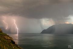 Orage vespral sur le haut lac (MarKus Fotos) Tags: orage orages storm suisse switzerland strike thunder thunderstorm thunderstrike foudre impact ngc