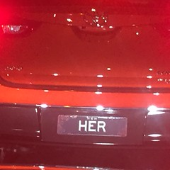 Simple license plate (bobmendo) Tags: notmine her hers rego sheownsit belongstoher