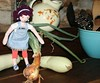That onion might be a little heavy for you, Jeanea. (Crazyquilter) Tags: handmade fiestaware clothdoll jeanae jeweltea the100dayproject 100daysofjeanea odessasquash