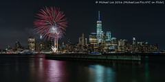 New York Pride Fireworks - 2016 (DSC01726) (Michael.Lee.Pics.NYC) Tags: longexposure newyork reflection night newjersey jerseycity fireworks sony pride newport hudsonriver lowermanhattan 2016 voigtlandernoktonclassic35mmsc14 a7rm2