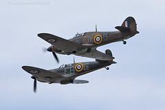 9933 BBMF (photozone72) Tags: canon aviation hurricane spitfire raf cleethorpes airshows armedforcesday bbmf p7350 lf363 canon100400mmf4556l rafbbmf 7dmk2 canon7dmk2