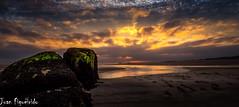 Stepping into the Light (Juan Figueirido) Tags: sunset espaa seascape marina landscape spain paisaje galicia puestadesol postadesol carnota solpor bocadoro playadecarnota fz1000 juanfigueirido