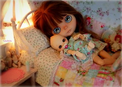 Lazy Days of Summer (TutuBella) Tags: melacaciacustomblythedoll soom nappychoo summertime quilt lazy afternoon dolls pacifier
