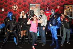 group shot (greyloch) Tags: storm cosplay apocalypse quicksilver xmen beast avengers tonystark magneto blackpanther alamodrafthouse 2016