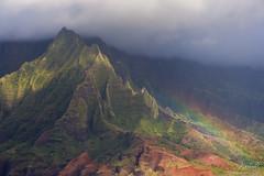 Fairytale Landscapes (Ar'alani) Tags: travel landscape coast rainbow scenic cliffs kauai coastline napali