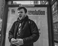 15th Street, 2016 (Alan Barr) Tags: street people blackandwhite bw philadelphia monochrome mono blackwhite candid group streetphotography sp streetphoto gr ricoh 15thstreet 2016
