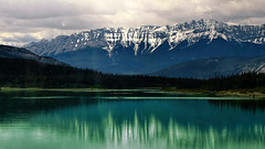 Majestic Beauty (Garry9600) Tags: lake canada mountains reflections landscape lumix scenery jasper alberta rockymountains cans2s fz200