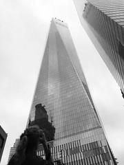 One world trade center (@ADsectari) Tags: new york blackandwhite bw usa ny newyork blackwhite nikon noiretblanc manhattan worldtradecenter 11 wtc septembre september11th iphone nikond3100 iphone5s picturac