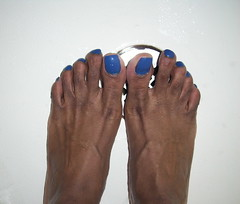 Pure Ice French Kiss nail polish (hyellow) Tags: blue cute feet foot nice toes pretty unique polish nails