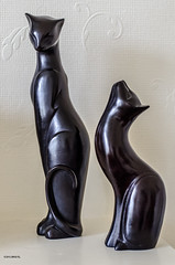 Mommy and Kitten! (BGDL) Tags: cats curves figurines sculptures mothercatandkitten nikond7000 ourdailychallenge bgdl nikkor50mm118g elementsorganizer11