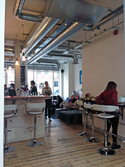 Timberyard Cafe @ Old Street (everydaylife.style) Tags: uk london coffee modern lunch cafe cookie tea unitedkingdom interior sandwich brownie espresso islington oldstreet salads  jabberwocky         quiches  lookmumnohands  lamarzocco  timberyard   granolas  porridges