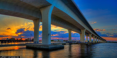 Sunset-at-Roosevelt-Bridge-Stuart-Florida (Captain Kimo) Tags: bridge sunset marina florida stuart highdynamicrange waterway rooseveltbridge photomatixpro hutchinsonisland hdrphotography hdrpano hdrsoftware topazsoftware mygearandme captainkimo