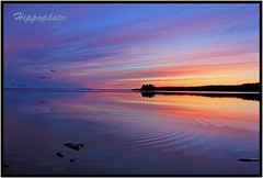 Rdn, Sweden (hippophoto) Tags: blue sunset sea sky sun love nature colors beautiful canon landscape countryside spring amazing fishing view sweden wildlife awesome natur adventure sverige charming jmtland skyer vr friluftsliv landskap elv stersund vakkert canoneos550
