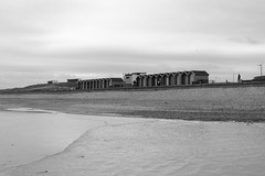 blyth beach huts bw (dslr stephen) Tags: beach water coast huts blyth