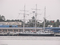 STW3: Kochi, India. Nellie in dock (Tim Booth) Tags: india asia kochi jubileesailingtrust sailtheworld stw3