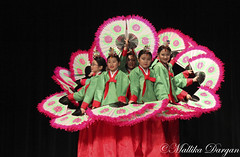 lifestyle copywrite (Mallika Dargan) Tags: pink girls green asian dancing little culture fans