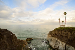 Best Western Gap (JC_Carvalho) Tags: ocean california ca sky cliff seascape tree clouds landscape photo nikon rocks waves photographer wave gazebo cliffs palm shore palmtree pismo pismobeach slo seagul carvalho cliffside d3200