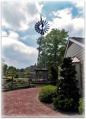 Just blowin' in the wind (MissyPenny) Tags: brick windmill pennsylvania brickwalkway lahaska peddlersvillage lahaskapennsylvania pdlaich missypenny