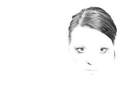 Emma Jane Furminger (Erminger) Tags: portrait bw white black make up contrast self hair high eyes key moody emma jfdi highkey em erminger