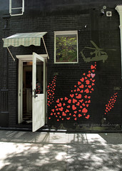 Hearts and Helicopters (.annajane) Tags: street newyorkcity wall painting hearts graffiti chinatown heart soho urbanart helicopter helicopters mottstreet princestreet thelittlecupcakebakeshop