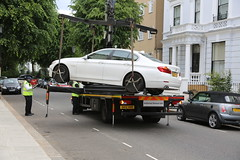 Someone's Bad Day (SReed99342) Tags: uk england london car bmw tow nottinghill
