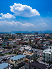PhoTones Works #3068 (TAKUMA KIMURA) Tags: city blue sky cloud nature car way landscape town scenery     kimura thunderhead    takuma      ep5 photones