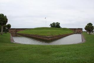 Fort Pulaski and its 7 Foot Deep Moat