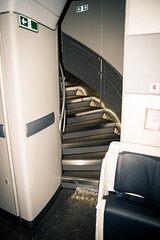 Aft Staircase leading to the Upperdeck of Airbus 380
