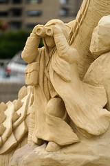 Lookout - Closeup (Eric Kilby) Tags: beach festival closeup sand lookout binoculars national revere sculpting 2013 nssf