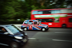 Panning the Union Jack (glhs279) Tags: uk england blur london nikon colorful cab taxi panning unionjack vignette marblearch d600