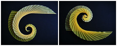 triangle spirals (Monika Hankova) Tags: paper spiral origami paperfolding folding tomoko fuse papercraft