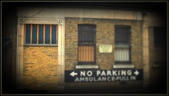 NHS Cut Backs take effect! (The Stig 2009) Tags: new london sign hospital nose closed o space sony noparking pa
