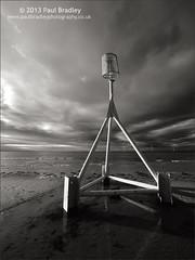 Marker (Mono) (ScudMonkey) Tags: bw beach monochrome canon blackwhite sigma beacon redcar 6d 1224mmf45exdg c2013paulbradley markermono