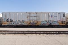 MECH  SUITE (TRUE 2 DEATH) Tags: railroad train graffiti tag graf trains railcar etc spraypaint boxcar suite railways railfan freight reefer mech freighttrain rollingstock armn endtoend benching freighttraingraffiti