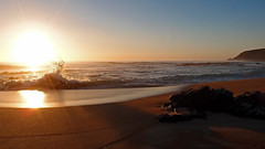 Trial Harbour (pikeyc) Tags: sunset beach waves tasmania westcoast